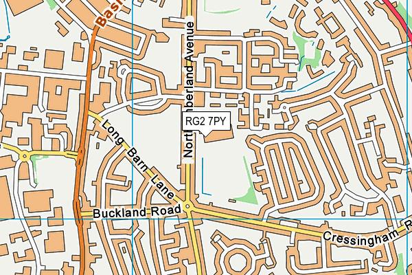 Reading Girls' School map (RG2 7PY) - OS VectorMap District (Ordnance Survey)