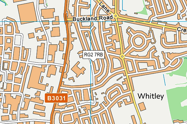 Whitley Park Primary and Nursery School map (RG2 7RB) - OS VectorMap District (Ordnance Survey)