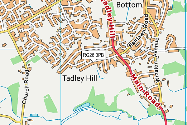 Tadley Community Primary School map (RG26 3PB) - OS VectorMap District (Ordnance Survey)