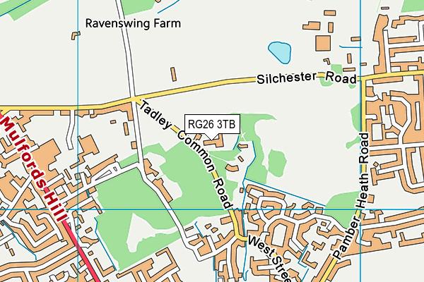 Tadley Court School map (RG26 3TB) - OS VectorMap District (Ordnance Survey)