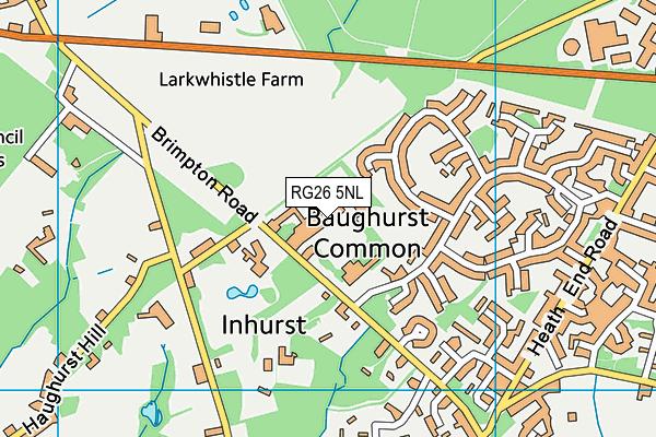 The Hurst Community College map (RG26 5NL) - OS VectorMap District (Ordnance Survey)