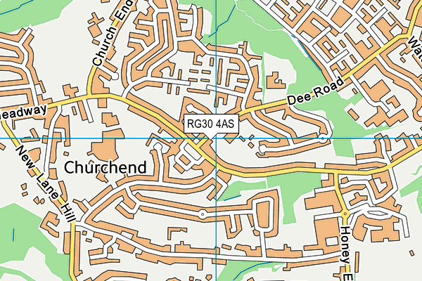 St Michael's Primary School map (RG30 4AS) - OS VectorMap District (Ordnance Survey)