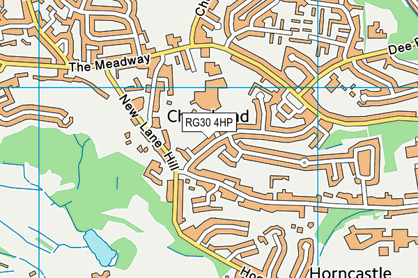 Churchend Primary Academy map (RG30 4HP) - OS VectorMap District (Ordnance Survey)