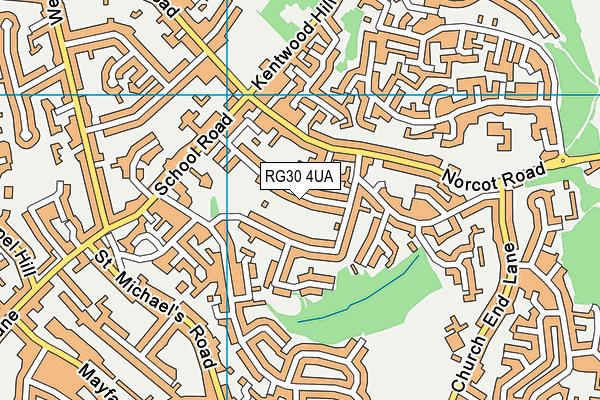 Blagrave Nursery School map (RG30 4UA) - OS VectorMap District (Ordnance Survey)