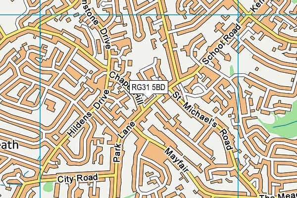 Park Lane Primary School map (RG31 5BD) - OS VectorMap District (Ordnance Survey)