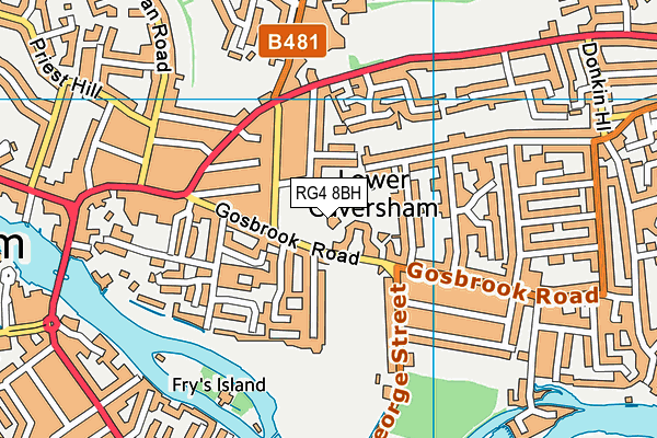 The Heights Primary School map (RG4 8BH) - OS VectorMap District (Ordnance Survey)