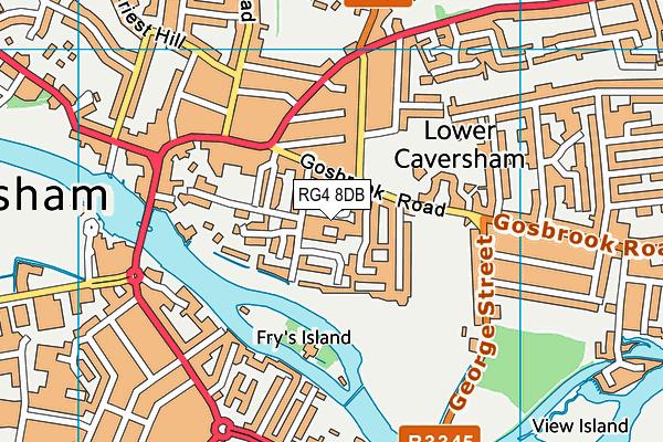 Thameside Primary School map (RG4 8DB) - OS VectorMap District (Ordnance Survey)