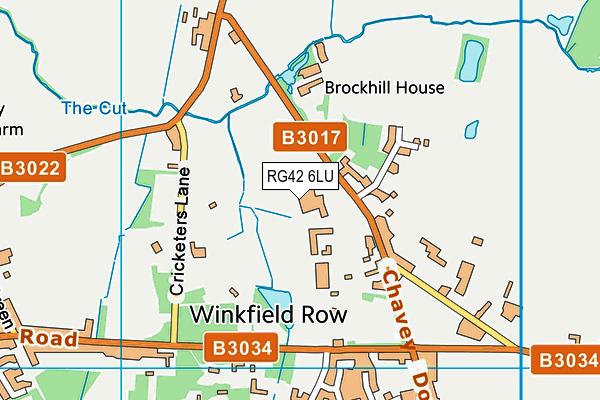 Lambrook School map (RG42 6LU) - OS VectorMap District (Ordnance Survey)