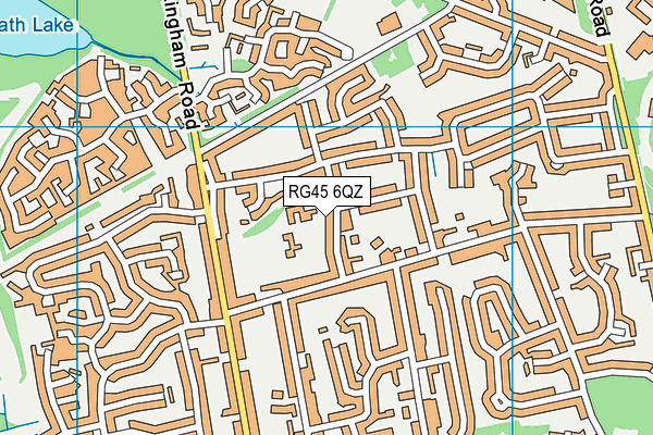 Oaklands Infant School map (RG45 6QZ) - OS VectorMap District (Ordnance Survey)