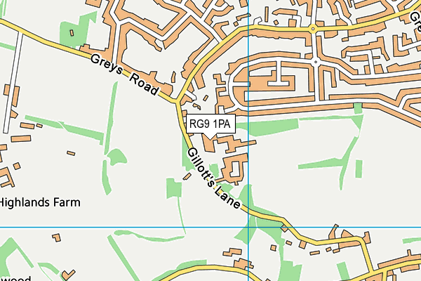 Henley Leisure Centre map (RG9 1PA) - OS VectorMap District (Ordnance Survey)