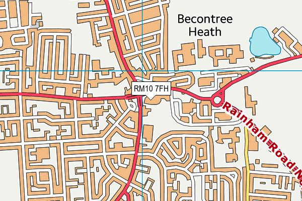 Becontree Heath Leisure Centre map (RM10 7FH) - OS VectorMap District (Ordnance Survey)