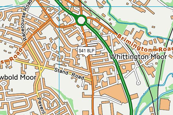 S41 8LP map - OS VectorMap District (Ordnance Survey)