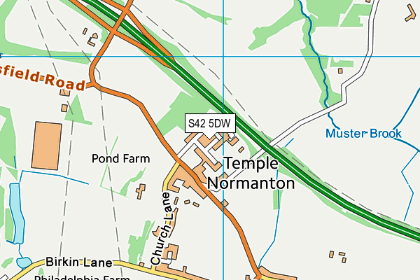 Temple Normanton Junior Academy map (S42 5DW) - OS VectorMap District (Ordnance Survey)
