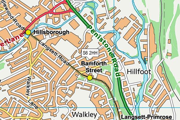 Burton Street Foundation map (S6 2HH) - OS VectorMap District (Ordnance Survey)