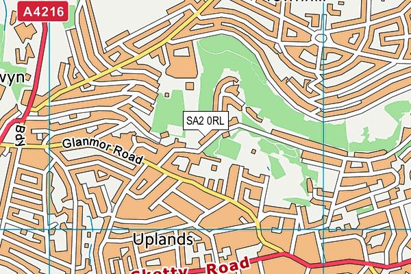 Oakleigh House School map (SA2 0RL) - OS VectorMap District (Ordnance Survey)