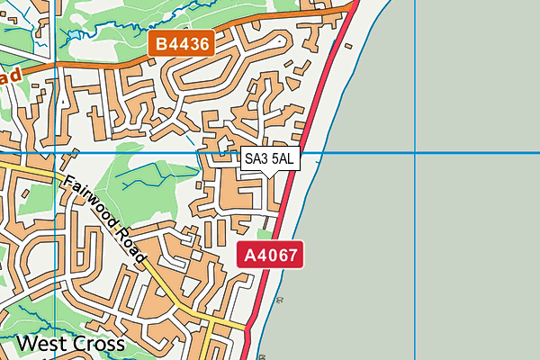 T? Dan Y Coed map (SA3 5AL) - OS VectorMap District (Ordnance Survey)