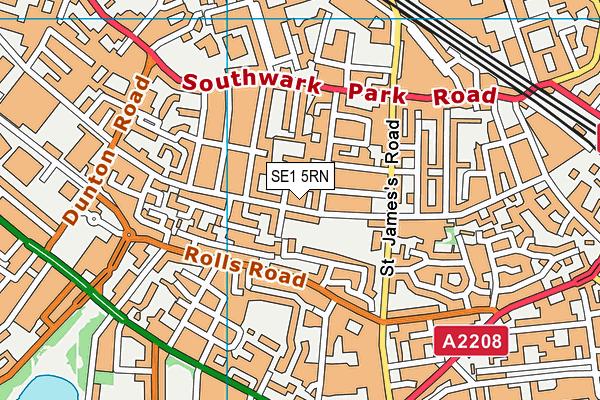 Spa School, Bermondsey map (SE1 5RN) - OS VectorMap District (Ordnance Survey)