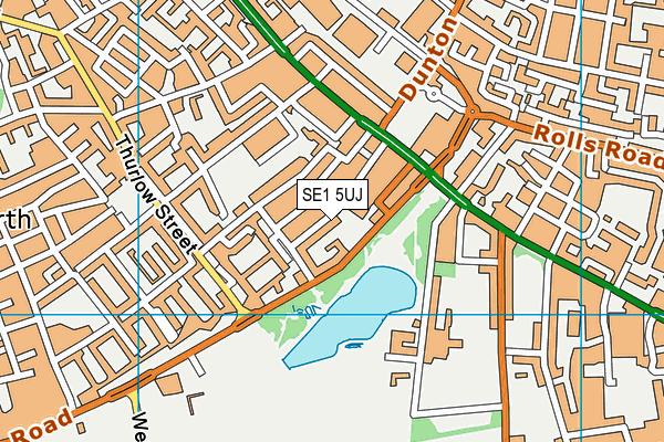 Ark Walworth Academy map (SE1 5UJ) - OS VectorMap District (Ordnance Survey)