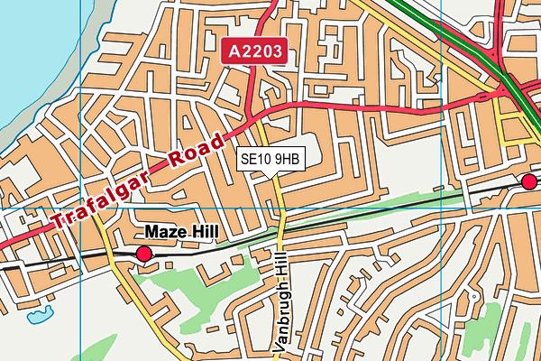 Greenwich Centre Library map (SE10 9HB) - OS VectorMap District (Ordnance Survey)