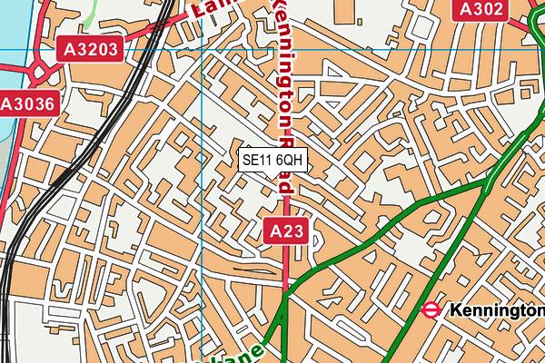 NAS Vanguard School map (SE11 6QH) - OS VectorMap District (Ordnance Survey)