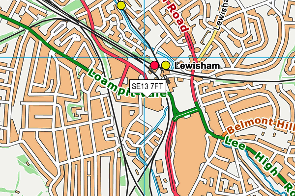 Glass Mill Leisure Centre map (SE13 7FT) - OS VectorMap District (Ordnance Survey)