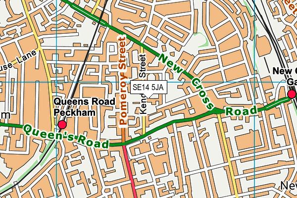 Kender Primary School map (SE14 5JA) - OS VectorMap District (Ordnance Survey)