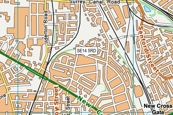 Haberdashers' Aske's Hatcham Temple Grove map (SE14 5RD) - OS VectorMap District (Ordnance Survey)