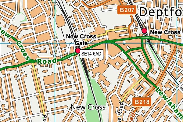St James's Hatcham Church of England Primary School map (SE14 6AD) - OS VectorMap District (Ordnance Survey)