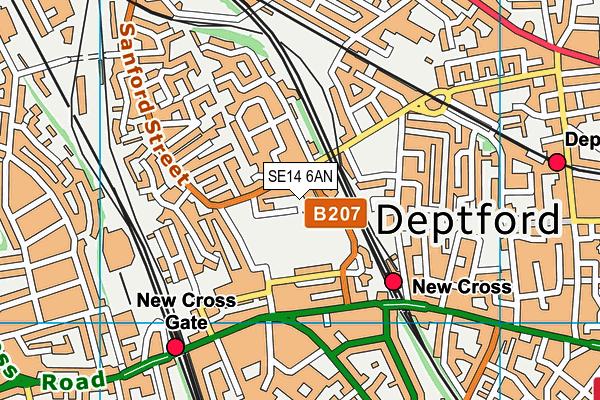 Deptford Green School map (SE14 6AN) - OS VectorMap District (Ordnance Survey)