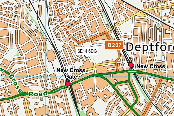 Childeric Primary School map (SE14 6DG) - OS VectorMap District (Ordnance Survey)