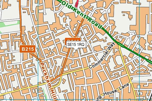St Francis RC Primary School map (SE15 1RQ) - OS VectorMap District (Ordnance Survey)