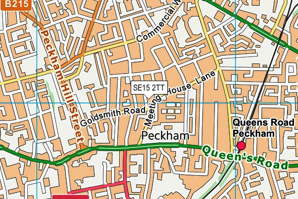 Nell Gwynn Nursery School map (SE15 2TT) - OS VectorMap District (Ordnance Survey)