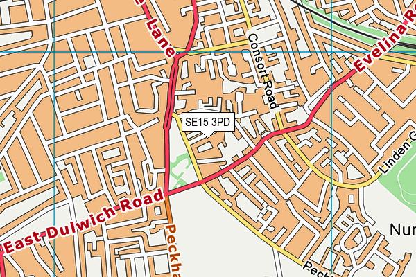Rye Oak Primary School map (SE15 3PD) - OS VectorMap District (Ordnance Survey)