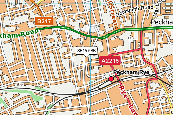 Cherry Garden School map (SE15 5BB) - OS VectorMap District (Ordnance Survey)