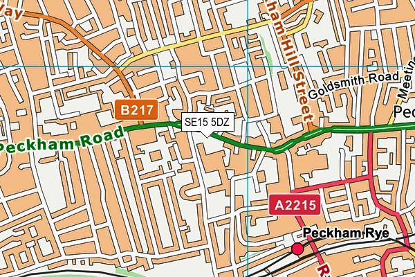 Harris Primary Free School Peckham map (SE15 5DZ) - OS VectorMap District (Ordnance Survey)