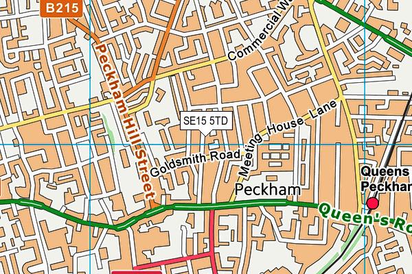 Harris Primary Academy Peckham Park map (SE15 5TD) - OS VectorMap District (Ordnance Survey)