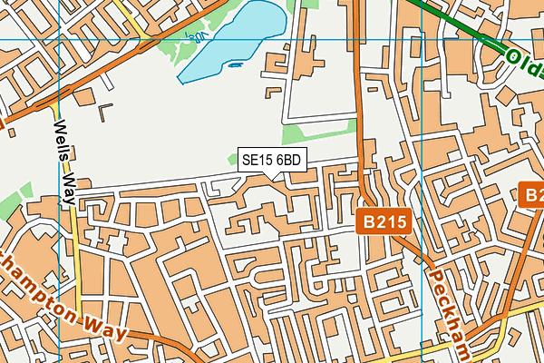 SE15 6BD map - OS VectorMap District (Ordnance Survey)