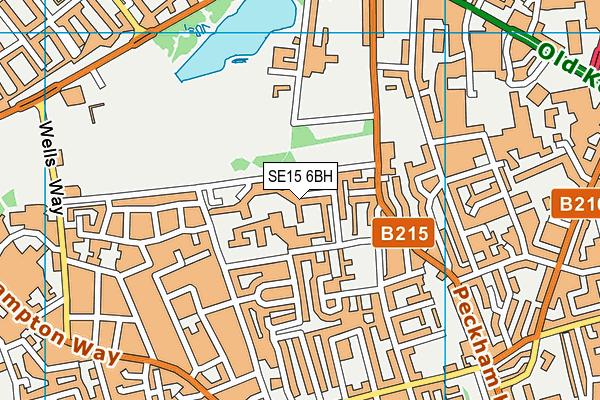 SE15 6BH map - OS VectorMap District (Ordnance Survey)