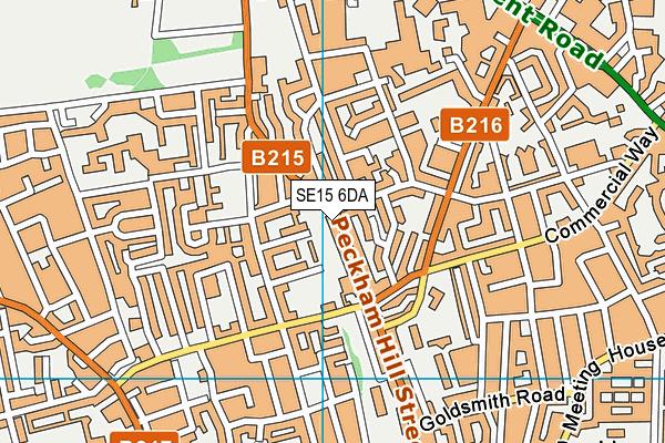 SE15 6DA map - OS VectorMap District (Ordnance Survey)