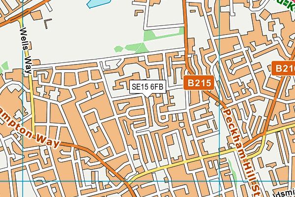 SE15 6FB map - OS VectorMap District (Ordnance Survey)