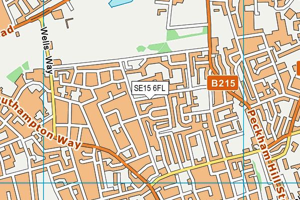 Angel Oak Academy map (SE15 6FL) - OS VectorMap District (Ordnance Survey)