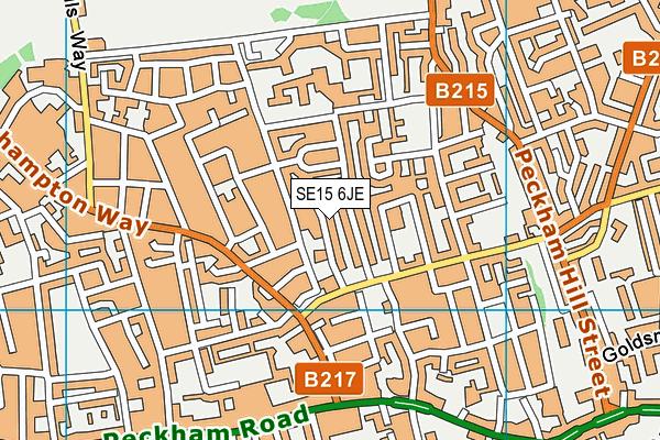 SE15 6JE map - OS VectorMap District (Ordnance Survey)