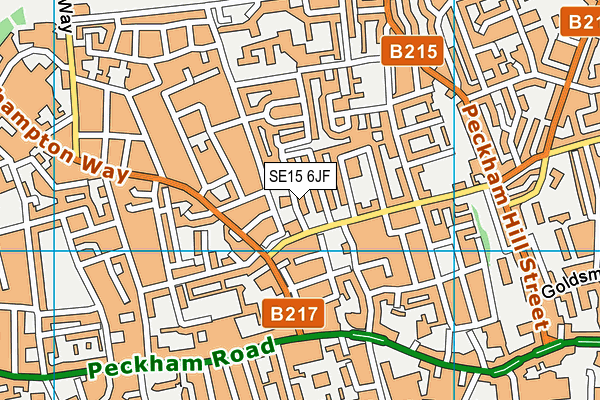 SE15 6JF map - OS VectorMap District (Ordnance Survey)