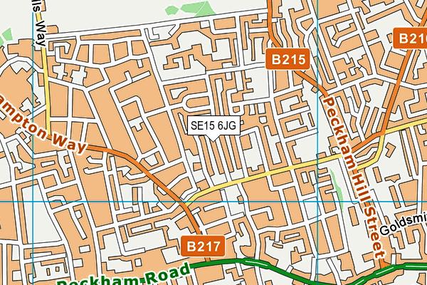 SE15 6JG map - OS VectorMap District (Ordnance Survey)