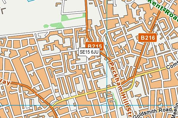 SE15 6JU map - OS VectorMap District (Ordnance Survey)