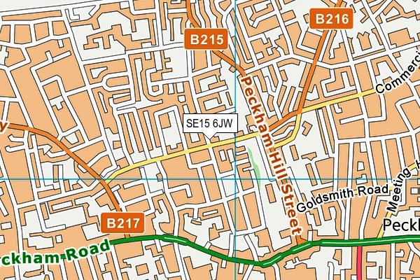 SE15 6JW map - OS VectorMap District (Ordnance Survey)