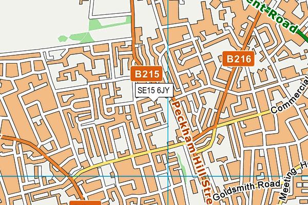 SE15 6JY map - OS VectorMap District (Ordnance Survey)