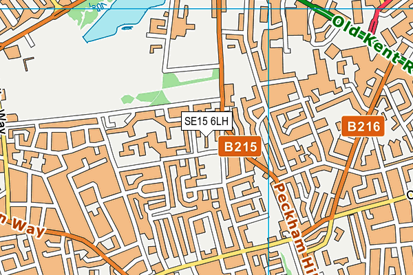 SE15 6LH map - OS VectorMap District (Ordnance Survey)