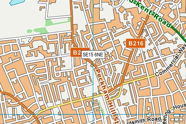 SE15 6NE map - OS VectorMap District (Ordnance Survey)