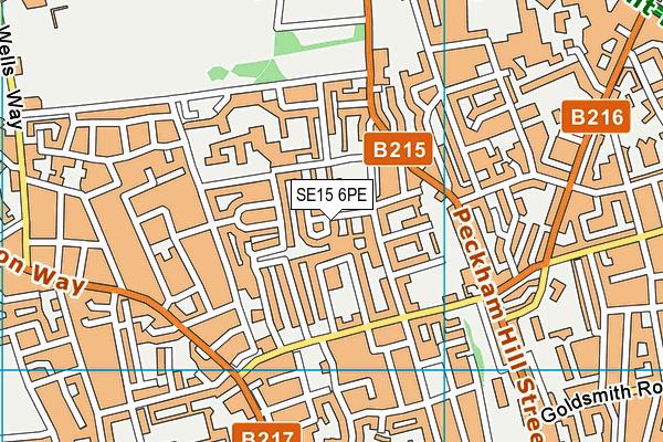 SE15 6PE map - OS VectorMap District (Ordnance Survey)